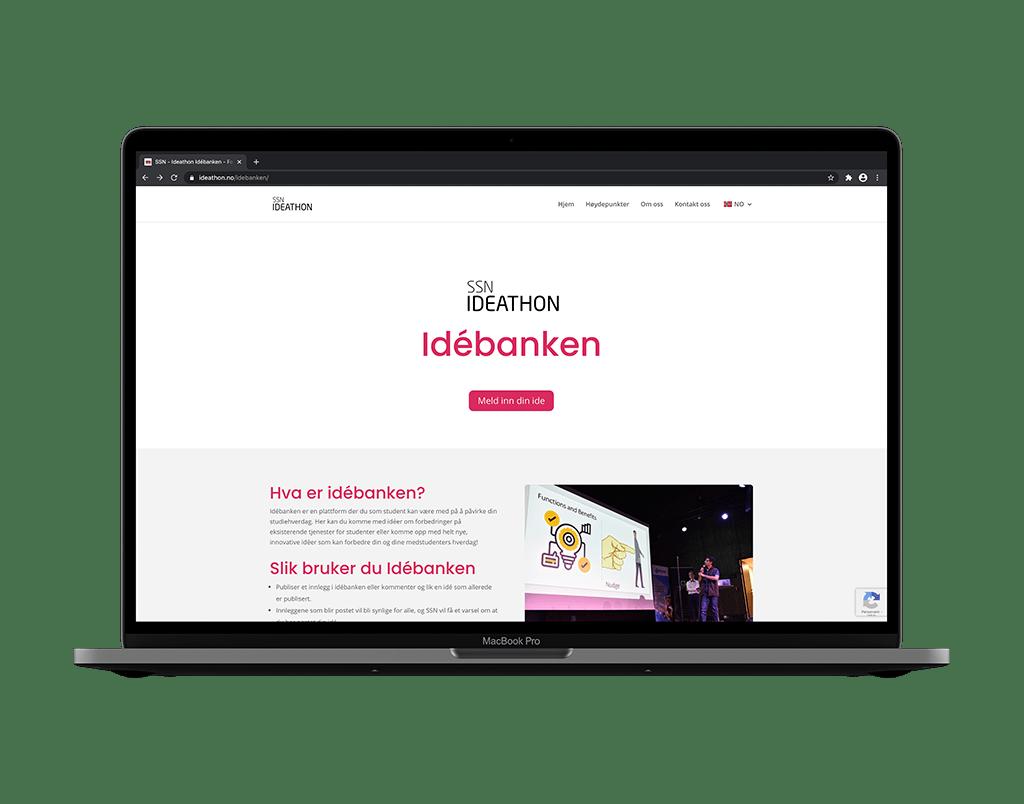 idébanken ideathon website